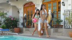 Two attractive Filipina sisters percentage one white guys cock in combination