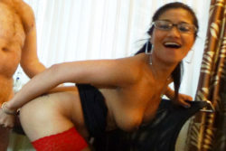 Attractive Filipina businesswoman savors white dick